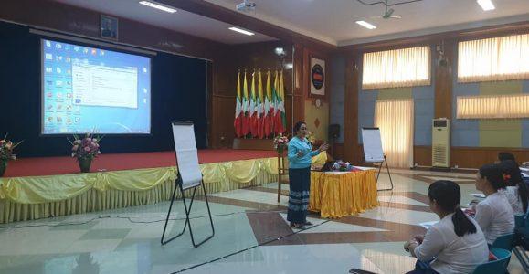 (၁၉.၂.၂၀၂၀) ရက်နေ့ပင်စင်ဦးစီးဌာန၏ စွမ်းရည်မြှင့်သင်တန်းကို ညွှန်ကြားရေးမှူးချုပ်မှ သင်တန်းပို့ချခြင်း
