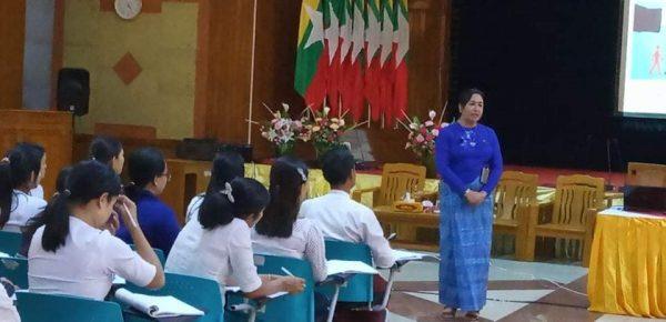 (၂၆.၂.၂၀၂၀) ရက်နေ့ ပင်စင်ဦးစီးဌာန၏ စွမ်းရည်မြှင့်သင်တန်းကို ညွှန်ကြားရေးမှူးချုပ်မှ သင်တန်းပို့ချခြင်း